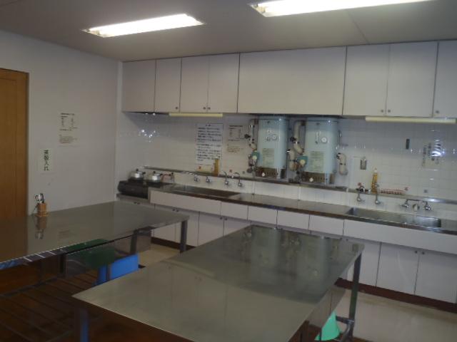鹿児島市立北部斎場の湯沸室