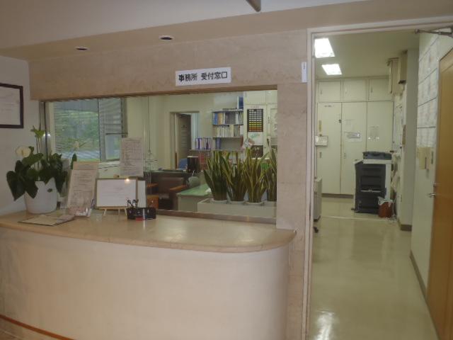 鹿児島市立北部斎場の事務室